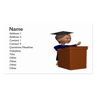 Valedictorian 2 pack of standard business cards