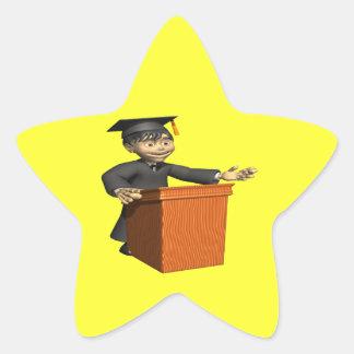 Valedictorian 3 star sticker
