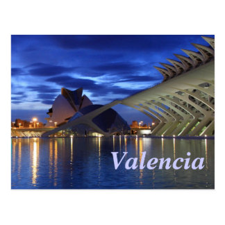 Valencia by Night Postcard