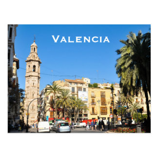 Valencia in Catalunia, Spain Postcard