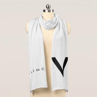 """Valencia """"V"""" Scarf Black/White"""