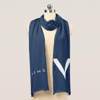 """Valencia """"V"""" Scarf White/Blue"""