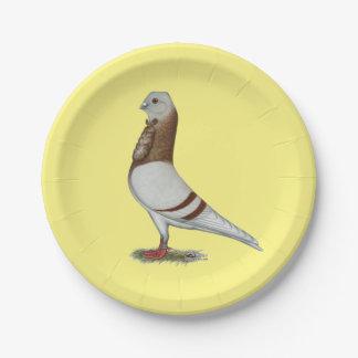 Valencian Figurita Pigeon Paper Plate
