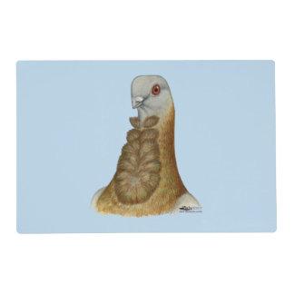 Valencian Figurita Pigeon Portrait Laminated Place Mat