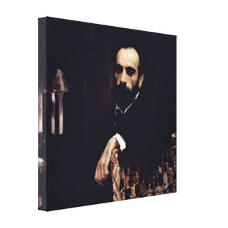 Valentin Serov - Portrait of the Artist Levitan Gallery Wrapped Canvas