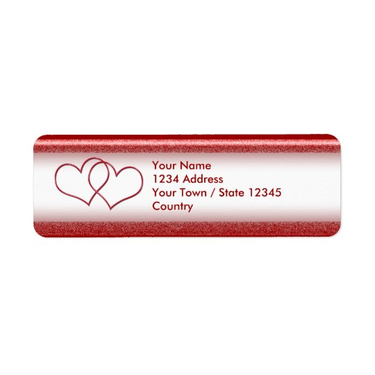 Valentine #1 return address label