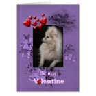 Valentine Adorably Cute Pomeranian Puppy Card
