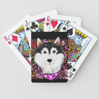 Valentine Alaskan Malamute Bicycle Playing Cards