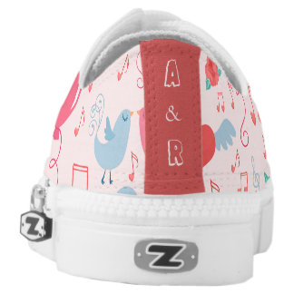 Valentine Background Monograms Zipz Low Top Shoes Printed Shoes