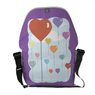 Valentine Balloon Hearts Messenger Bags