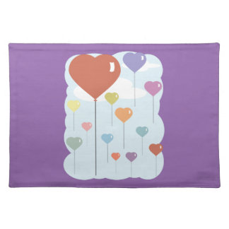 Valentine Balloon Hearts Placemat