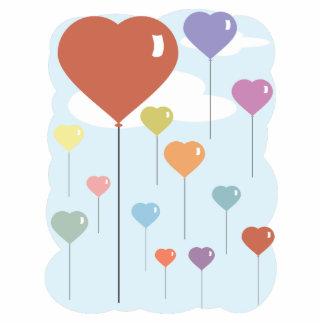 Valentine Balloon Hearts Standing Photo Sculpture
