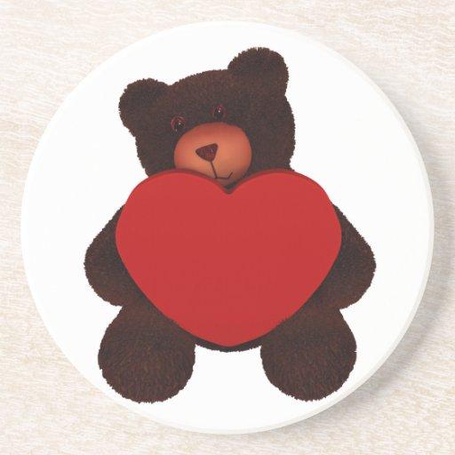 Valentine Bear Beverage Coaster