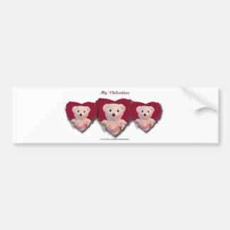 Valentine Bear Heart Bumper Sticker