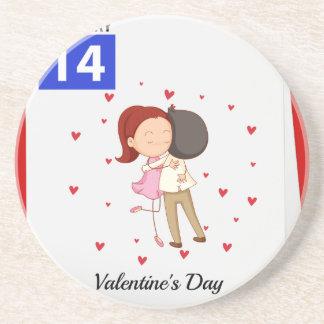 Valentine Beverage Coaster