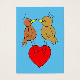 Valentine Birds on a Heart Mini Kids Cards
