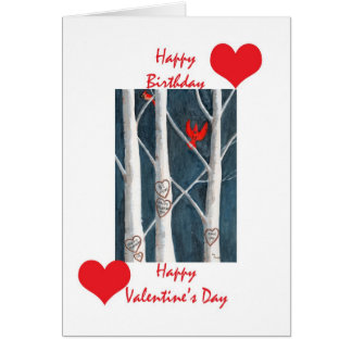Valentine birthday card