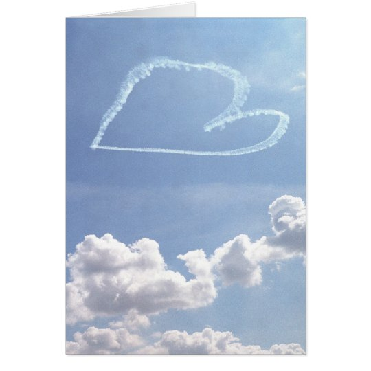 Valentine (blank inside) - Heart in the Sky Card