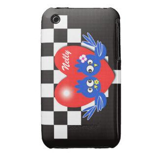Valentine blue bird iPhone 3 Case-Mate cases