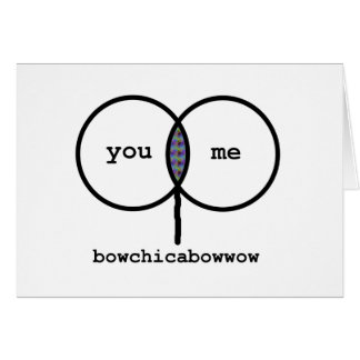 Valentine: Bowchicabowwow Funny Graph Card