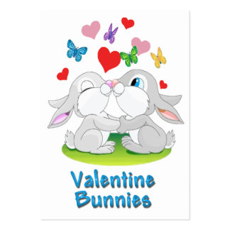Valentine Bunnies Cards to Hand Out for Kids Pack Of Chubby Business Cards