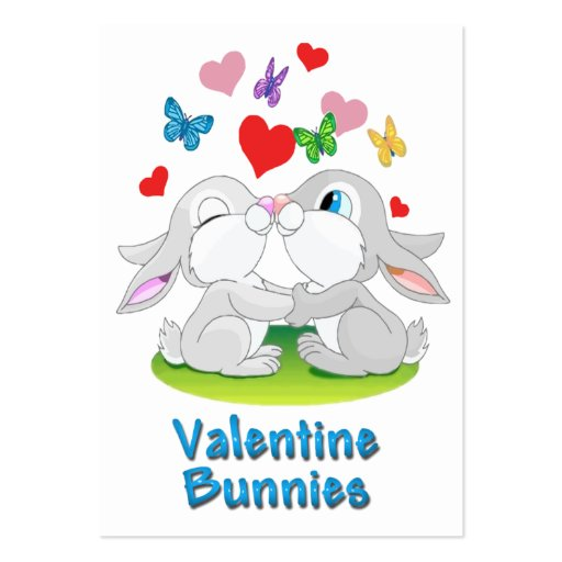Valentine Bunnies Cards to Hand Out for Kids Business Card