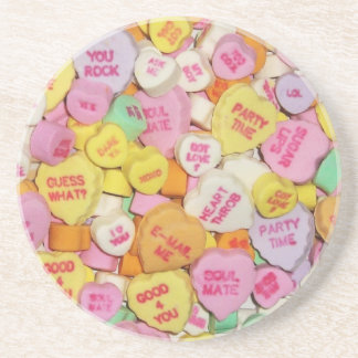 Valentine Candy Hearts Coasters