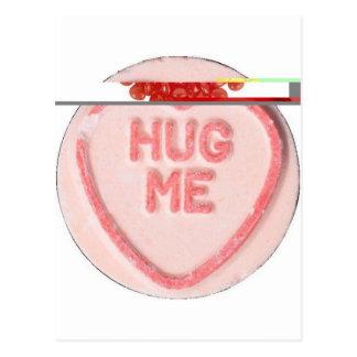 Valentine Candy - Hug Me Postcard
