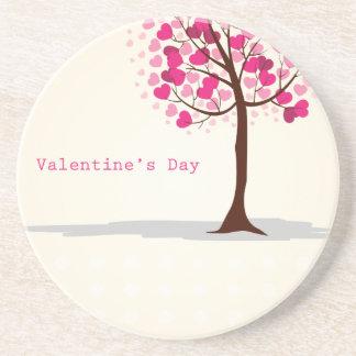Valentine card beverage coasters