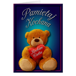 Valentine Card in Polish