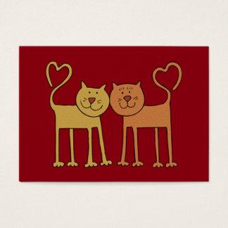 Valentine Cats in Love Grain Textured Kids Cards