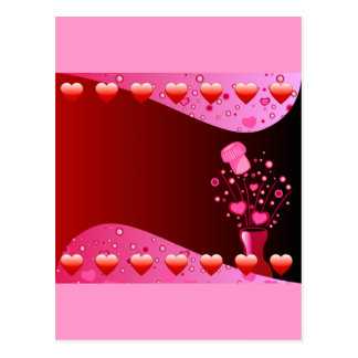 Valentine Champagne background Postcard