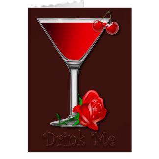 Valentine Cherry Martini Card