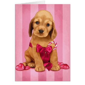 Valentine Cocker Spaniel Greeting Card