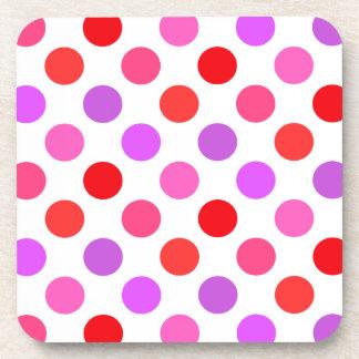 Valentine Colors Polka Dots Drink Coasters