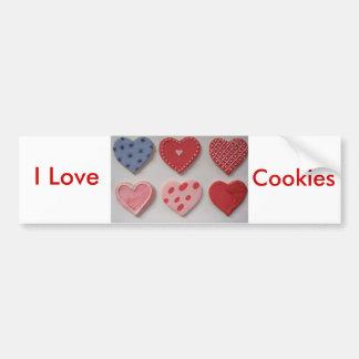 Valentine Cookie Hearts Bumper Sticker