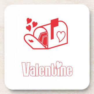 Valentine Beverage Coasters