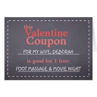 Valentine Coupon Card