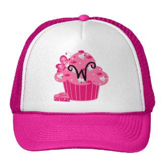 Valentine Cupcake Monogram W Hats