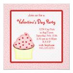 Valentine Cupcake Party Invites