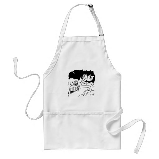 Valentine Cupid and Couple Apron