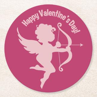 Valentine Cupid paper coasters