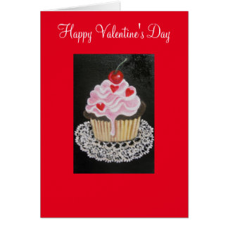 Valentine Cupkake, greeting Card