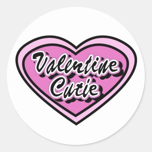 Valentine Cutie Tshirts and Gifts Round Sticker