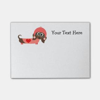 Valentine Dachshund (customizable) Post-it® Notes