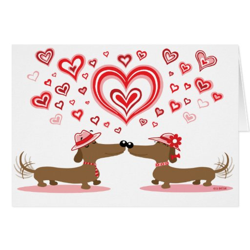 Valentine Dachshunds Greeting Cards