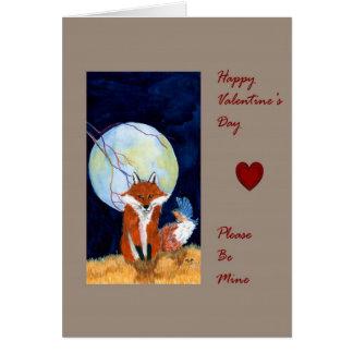 Valentine Day Fox Card