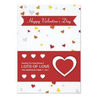 Valentine day greeting card 13 cm x 18 cm invitation card