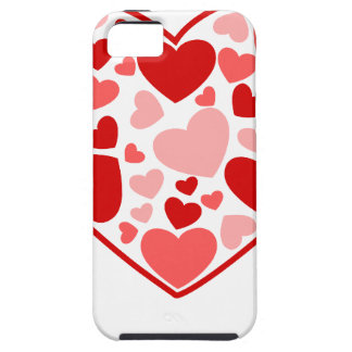 Valentine Day Hearts in Heart iPhone 5 Cover