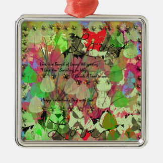 Valentine Decorations and Home Products Silver-Colored Square Decoration